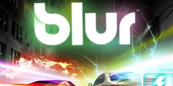 Logo da tradução de Blur em português.