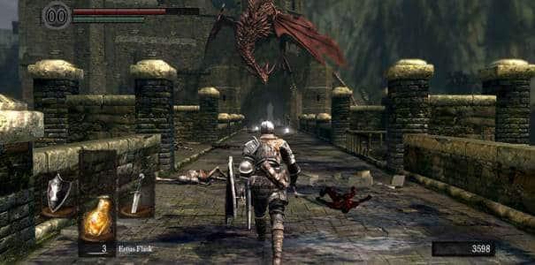 Jogabilidade em Dark Souls.