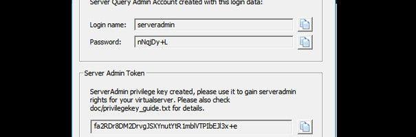 Dados TeamSpeak Server