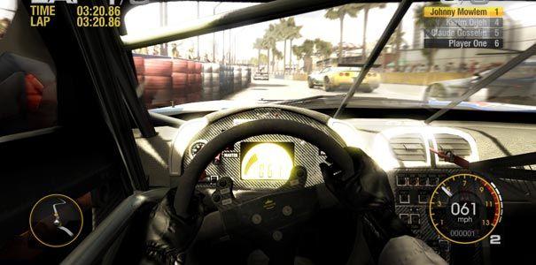 Race Driver Grid - Visão de dentro do carro durante uma corrida