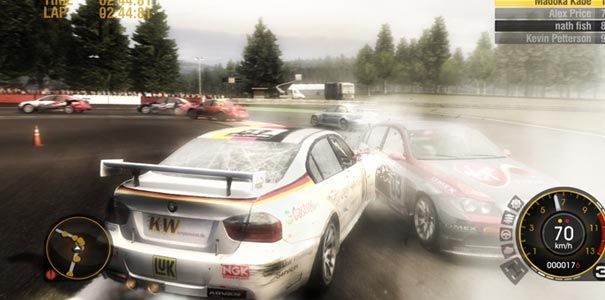 Race Driver Grid - Corrida com batida em corrida