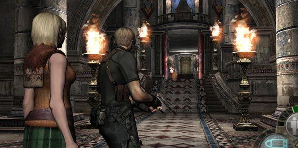 Resident Evil 4 - Leon entrando em uma mansão com Ashley