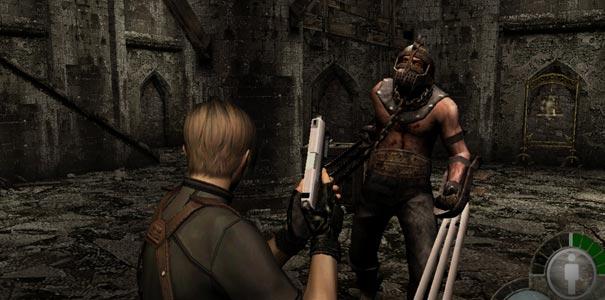 Resident Evil 4 - Leon enfrentando um inimigo poderoso