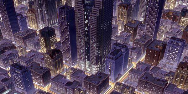 SimCity 4: gerenciando uma cidade noturna