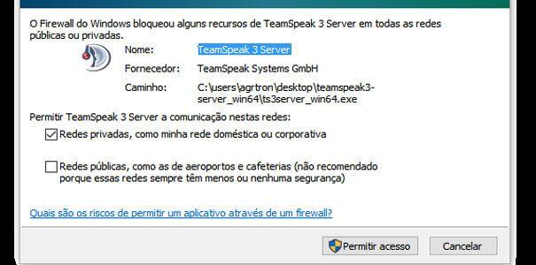 TeamSpeak Server Firewall