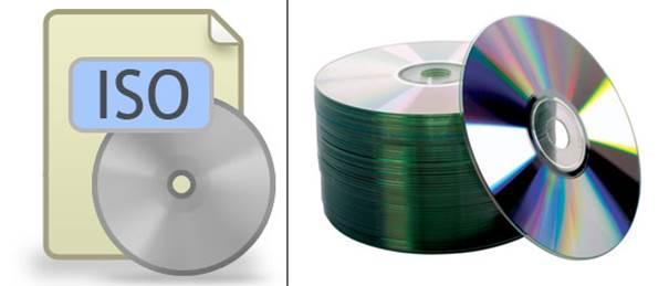 Arquivo ISO e conjunto de DVDs