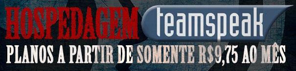 Alugar servidor de hospedagem TeamSpeak.