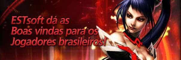 Boas-vindas da ESTsoft Games para o jogadores brasileiros