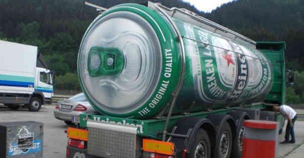 Caminhão em forma de latinha da Heineken - Caminhões Mais Estranhos