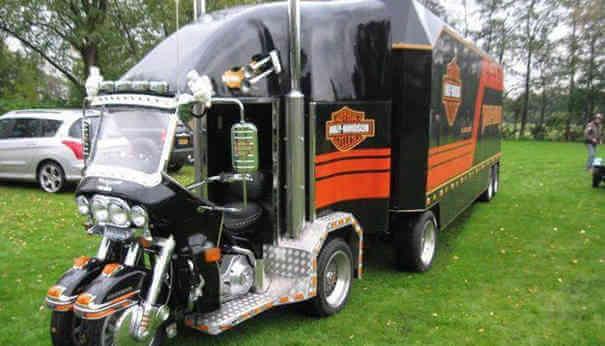 Caminhão Harley-Devisdon - Caminhões Mais Estranhos