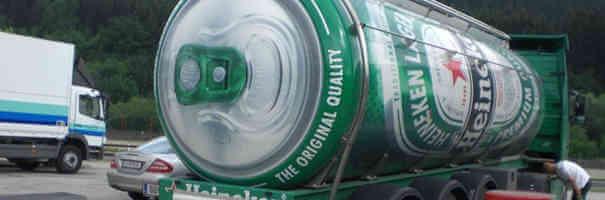 Caminhão da Heineken em forma de latinha - Caminhões Mais Estranhos