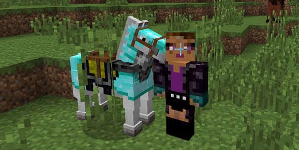 Cavalo no Minecraft.