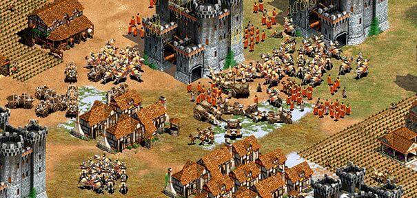 Uma cidade em Age of Empires 2.