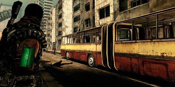 Um cidade totalmente destruída em Afterfall Insanity.