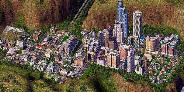 Cidade do vale em SimCity4.