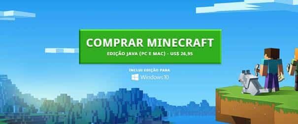 Comprar Minecraft original no site oficial