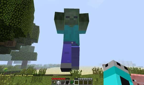 Curiosidades sobre Minecraft - zumbi gigante