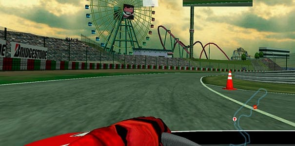 Parque de diversões em Ferrari F355.