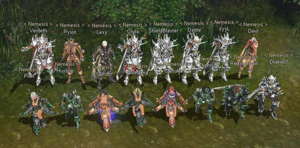 Uma guild em Cabal Online.
