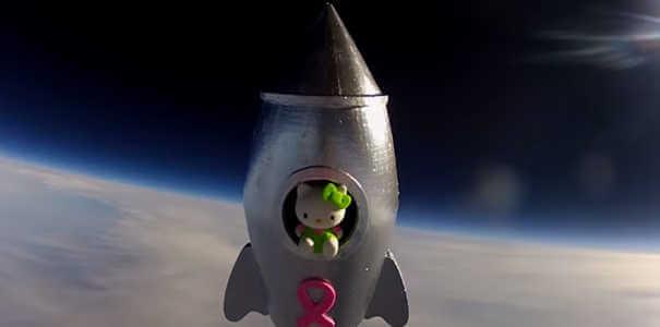 Hello Kitty - Coisas estranhas enviadas ao espaço