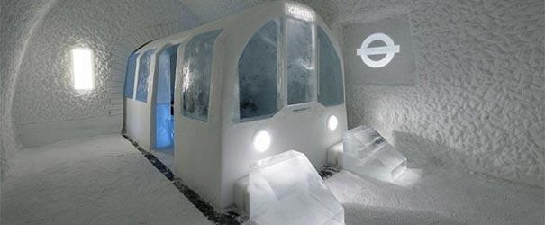O hotel de gelo é muito estravagante.