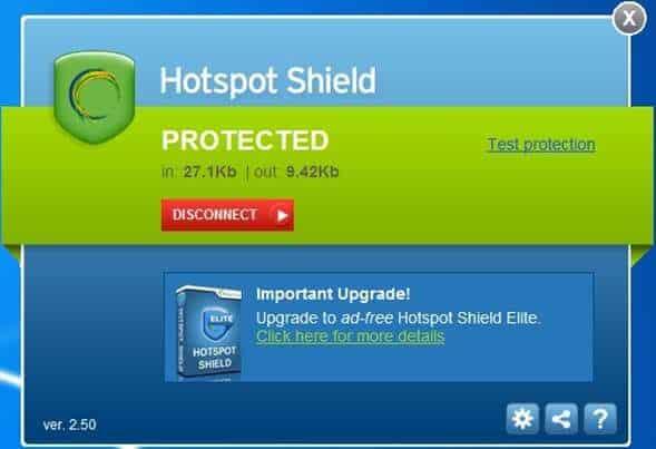 Hotspot Shield Cabal para diminuir o lag