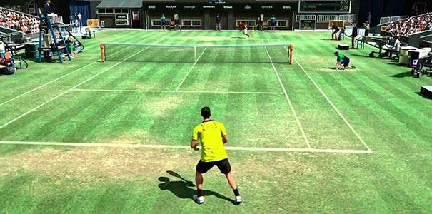 Jogando Virtua Tennis no DreamCast.