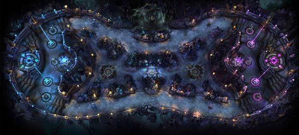 mapa Twisted Treeline