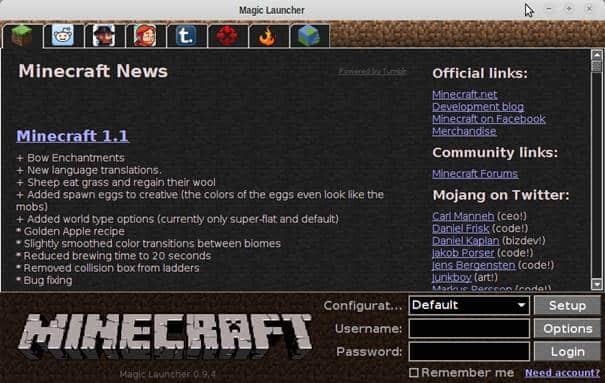 Baixar Minecraft Linux