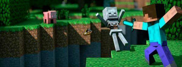Minecraft é o mais famoso entre os jogos indies.