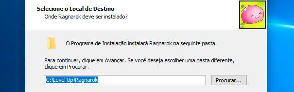 Pasta de instalação do Ragnarok Online.