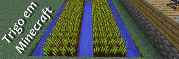 Plantação de Trigo em Minecraft