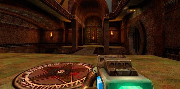 Arma de plasma no Quake III Arena.