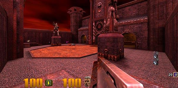Segundo mapa no Quake III Arena.