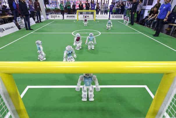 RoboCopa - vista do jogo em cima do gol
