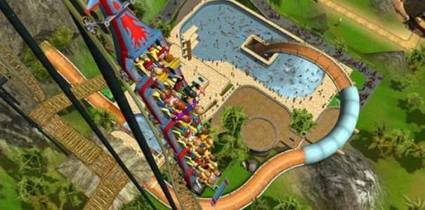 RollerCoaster Tycoon 3 - Montanha-russa subindo