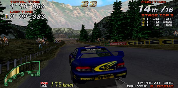 Impreza no Sega Rally 2.