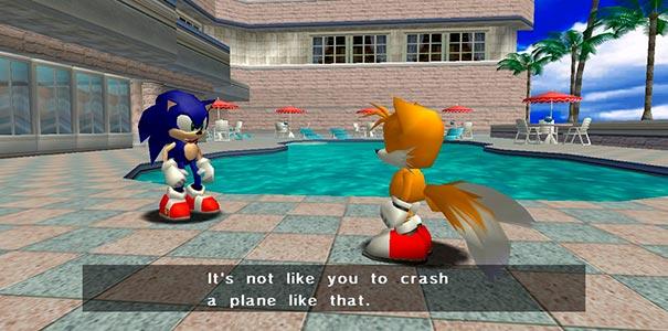 Sonic Adventure e bom demais.