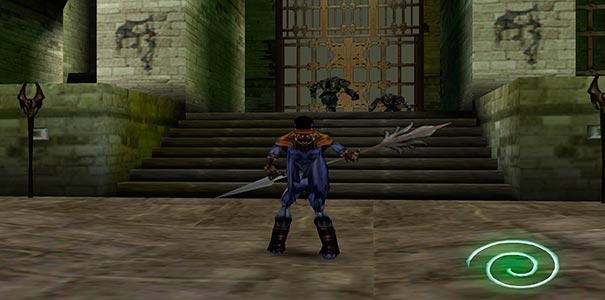 Raziel nos portões em Soul Reaver.