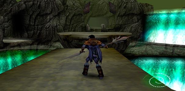 Raziel no poço em Soul Reaver.