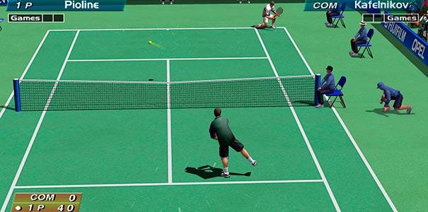 Partida de Virtua Tennis no DreamCast.