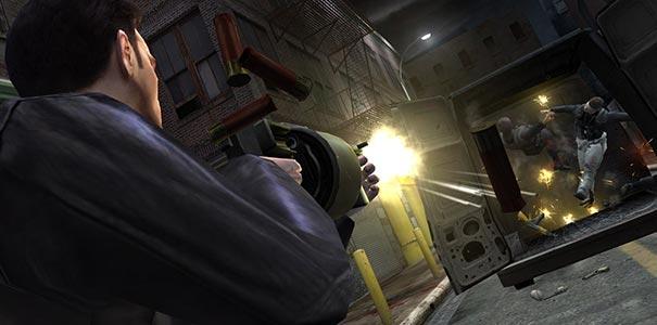 Tiroteio de tirar o fôlego em Max Payne 2.