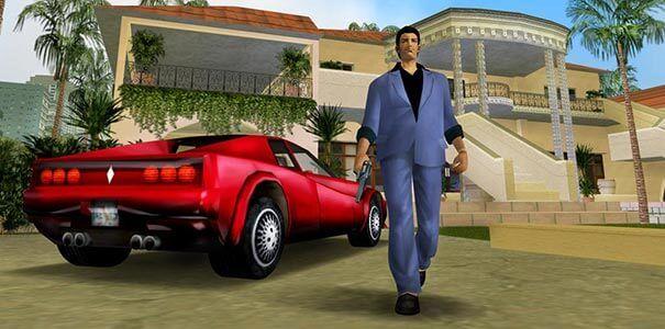 Bela mansão em Grand Theft Auto.