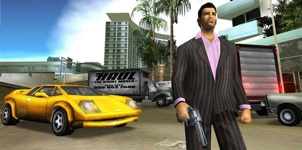 Veículos estacionados em Pilotando uma moto em Grand Theft Auto.