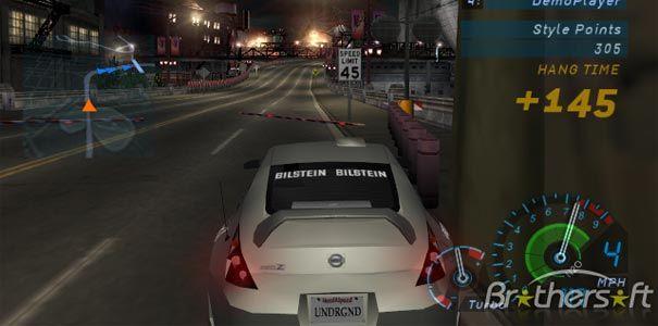 Need for Speed Underground - Carro cinza no meio da corrida