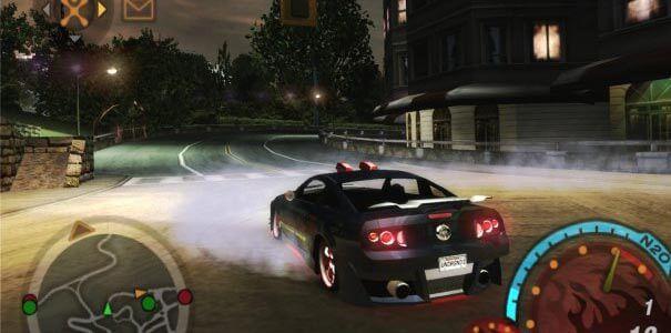 Need for Speed Underground 2 - Carro Preto Arrancando