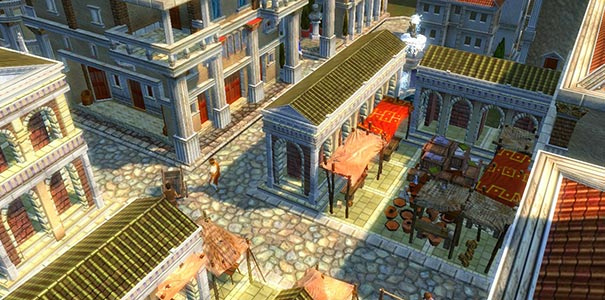 Cidadão Romano Passeando No Mercado Em Caesar IV