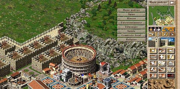Cidade Com Um Coliseu E Menus Totalmente Em Português No Caesar III