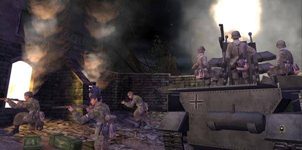 Soldados E Um Tanque De Guerra No Call Of Duty Clássico
