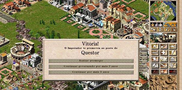 Tela De Missão Cumprida Em Português Do Jogo Caesar III